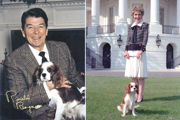 Ronald And Nancy Reagan With Rex