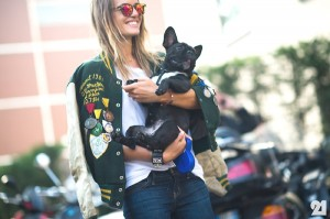 street style shoot with dog
