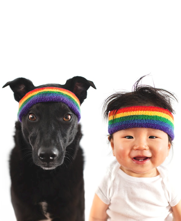 A Baby and A Rescue Dog  hat