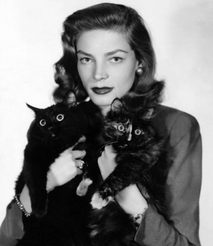 lauren-bacall-with-cat-mit-katzen