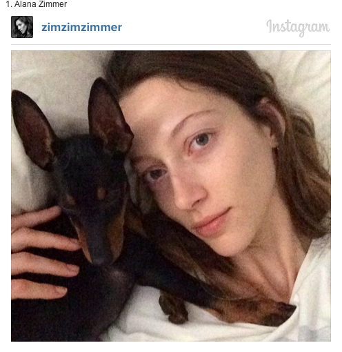 Alana Zimmer and her dog on Instagram