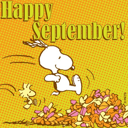 happy-September snoopy