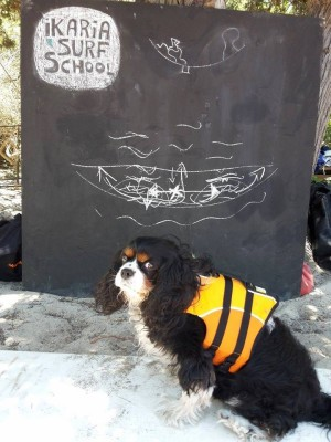 King Charles wearing lifevest